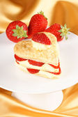 Strawberry and custard millefeuille — Stock Photo