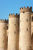 Detail of the Aljaferia Palace in Zaragoza, Spain — Stock Photo