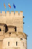 Détail du Palais de l'aljaferia à Saragosse, Espagne — Photo