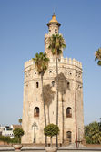 Torre del Oro or Gold Tower in Seville — Stock Photo