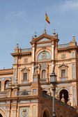Palacio Espanol, Plaza de Espana in Seville — Stock Photo