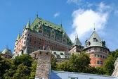 Chateau frontenac från gamla quebec city — Stockfoto
