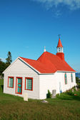 Old church and cemetery of Tadoussac — Stock Photo