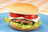 Mini cheese burger — Stock Photo