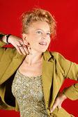 Smiling blond woman portrait — Stock Photo