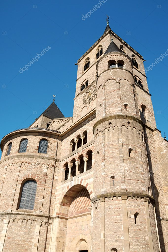 Trier Cathedral or Dom St. Peter in Trier is the oldest church in Germany. In 326 AD, Constantine, the first Christian emperor, built a church in this place.  Stock Photo #6876727