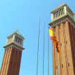 Venetian towers in Barcelona - Stock Photo
