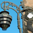 Stock Photo: Ancient streetlamp from Bologna