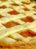 Apricot jam tart — Stock Photo