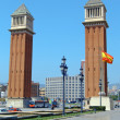 Plaza d'espana and venetian towers — Stock Photo