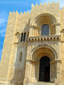 West facade of the Old Cathedral of Coimbra — Stock Photo