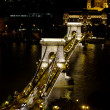 Stock Photo: Szechenyi Chain Bridge by night, Budapest