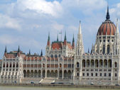 House of the nation and Danube river in Budapest — ストック写真