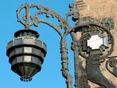 Ancient streetlamp from Bologna — Stock Photo