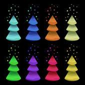 рождественские елки — Cтоковый вектор