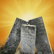 Symbolic tombstones — Stock Photo