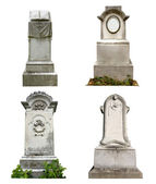 Old graves isolated — Stock Photo