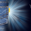 Label jeans — Foto Stock