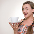 Girl with a cup — Stock Photo