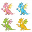 Royalty-Free Stock Vector Image: Cute sitting dragon