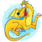 Schattig vergadering dragon — Stockvector