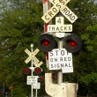 Multi Railroad Crossing - Stock Photo