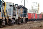 Freight Train Yard — Stock Photo