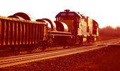 Golden Dawn Train — Stock Photo