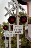 Multi Railroad Crossing — Stock Photo