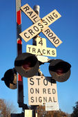 Railroad Crossing — Stockfoto