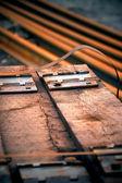 Szyny kolejowe — Zdjęcie stockowe