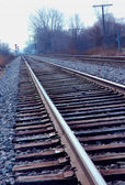 Mainline Railroad Track Blue — Stock Photo