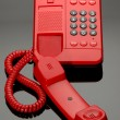 Stock Photo: Red Hotline Phone