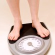 Feet on Weight Scale — Stock Photo