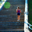 Stock Photo: Stair Climber Fitness Girl