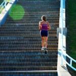 Stair Climber Fitness Girl — Stock Photo