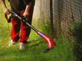 Summer Lawn Care — Stock Photo