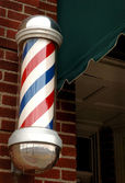 Small Town Barber Pole — Stock Photo