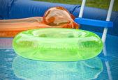 Summer Pool Gear — Stock Photo