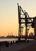 Ocelové továrna stvol za svítání — Stock fotografie