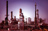 Refinery at Dawn — Stock Photo