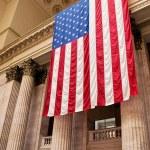 Giant Flag Chicago Station — Stock Photo #7692449