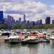Marina Near Downtown Chicago - Stock Photo