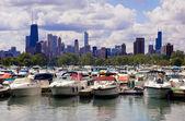 Marina cerca del centro de chicago — Foto de Stock
