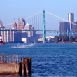 Stock Photo: Downtown Detroit River