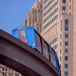 Downtown Detroit Monorail Train — Stock Photo