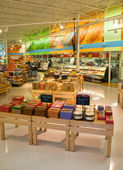 Store Cake Showcase — Stock Photo