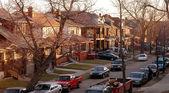 Urban Detroit Neighborhood — Stock Photo