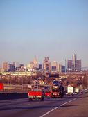 Downtown Detroit Traffic — Stock Photo