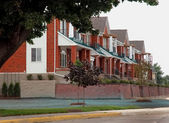 Urban Detroit Housing Strip — Stock Photo